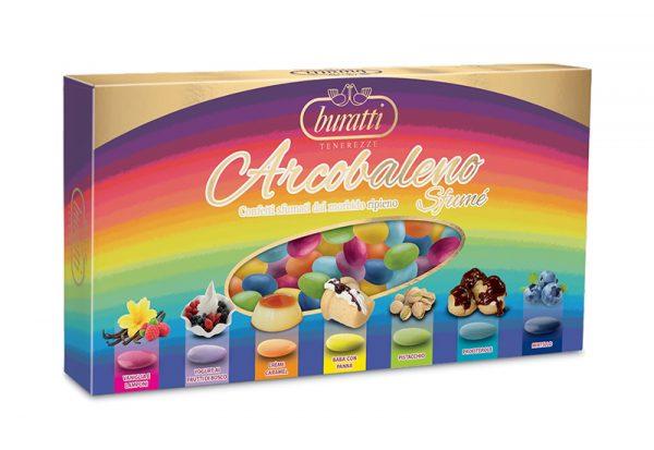 confetti buratti mandorla sfume arcobaleno