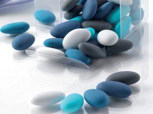 buratti confetti sfumati azzurri