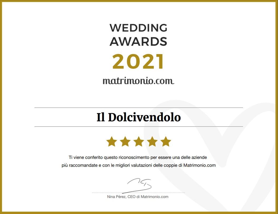 il dolcivendolo wedding awards 2021